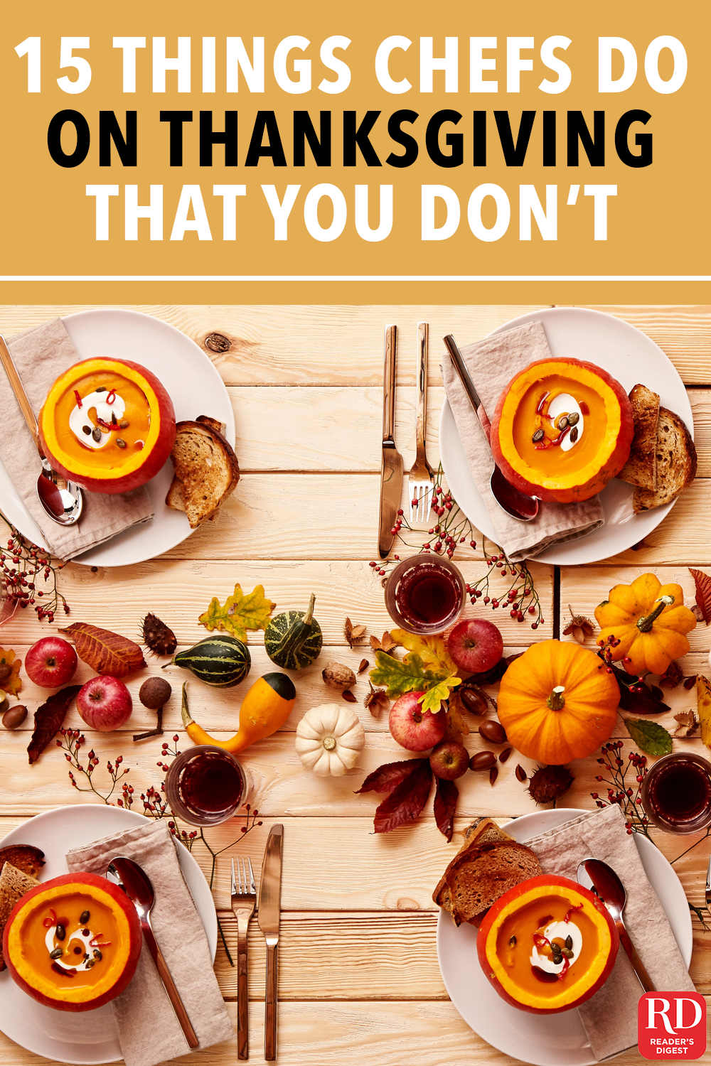 15 Things You're Probably Not Doing on Thanksgiving That a