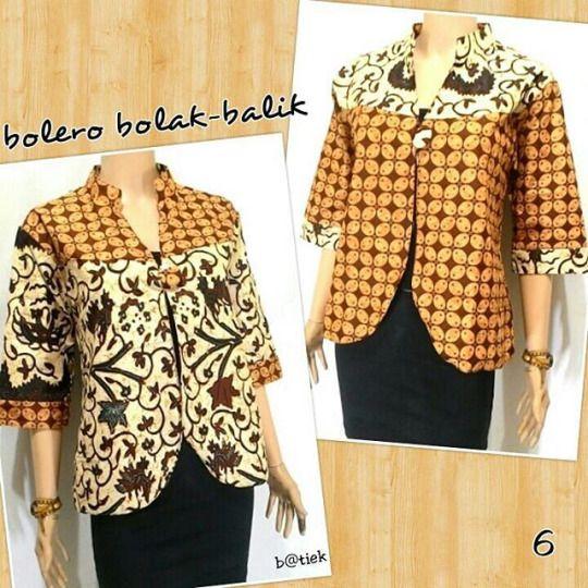 Fahmi batik solo BOLERO BOLAK BALIK BATI Rp. 100.000 BOLERA SIZE FIT XL LD  102 4a2d53ebb1