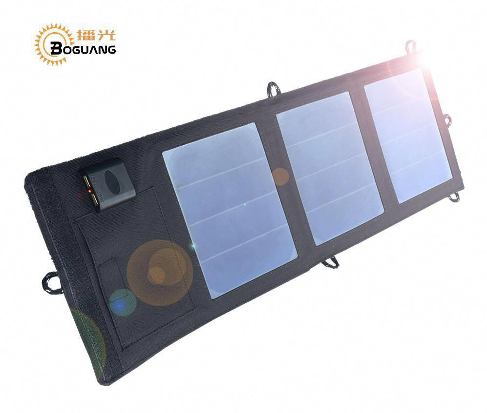 Boguang Folding Foldable Waterproof Solar Panel 6v 12w 2a Solar Dual Usb Port Portable Solar Solar Panel Charger Cell Phone Charger Portable Cell Phone Charger