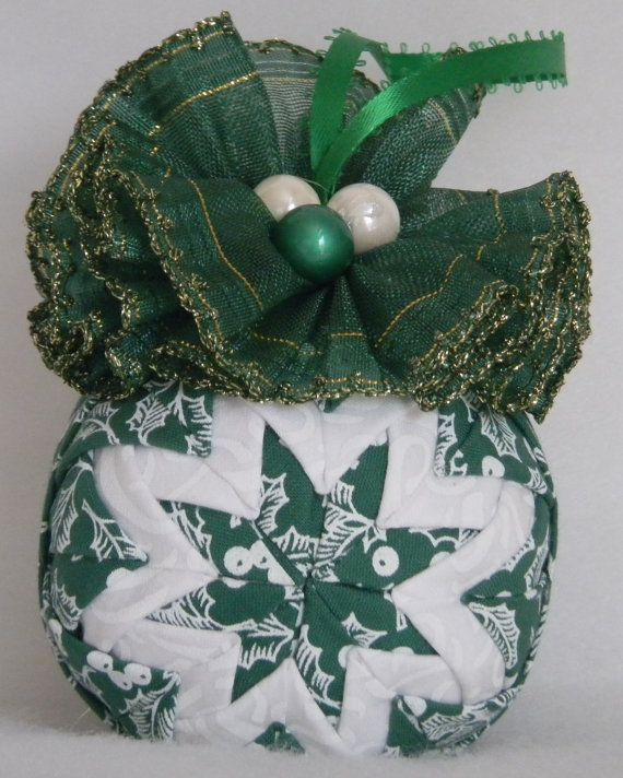 Quilted Ornament by Codysquilts on Etsy, $18.00
