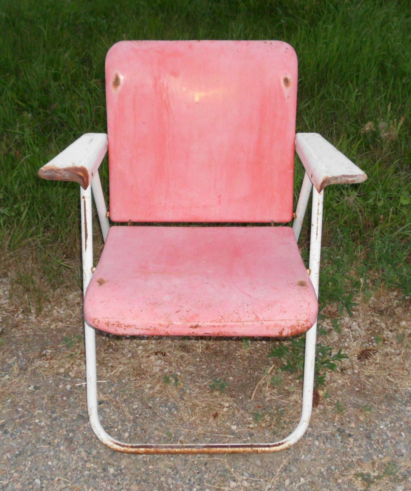 Russell Wright folding chair offered on eBay starting at $49 95