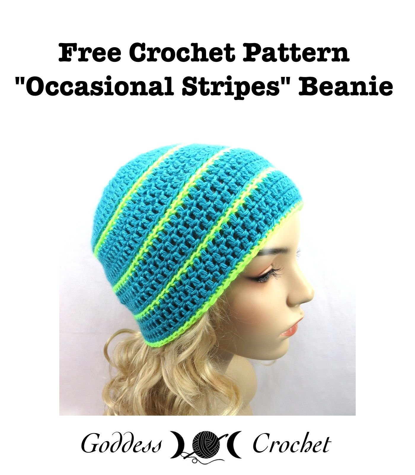Free Crochet Pattern - Occasional Stripes Beanie | Manualidades ...