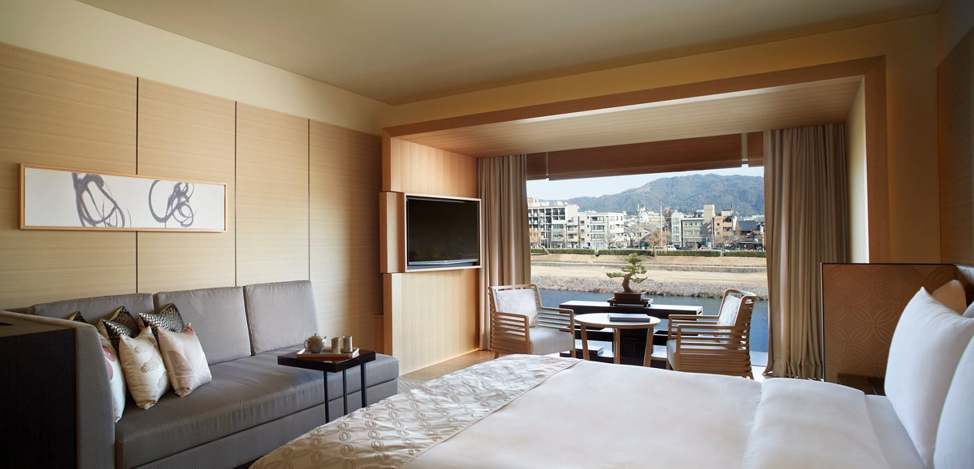 At The Ritz Carlton Kyoto The Simple Design And Sumptuous Feel Of Frette Linens Fit Perfectl Interior Design Living Room Interior Design Living Room Interior