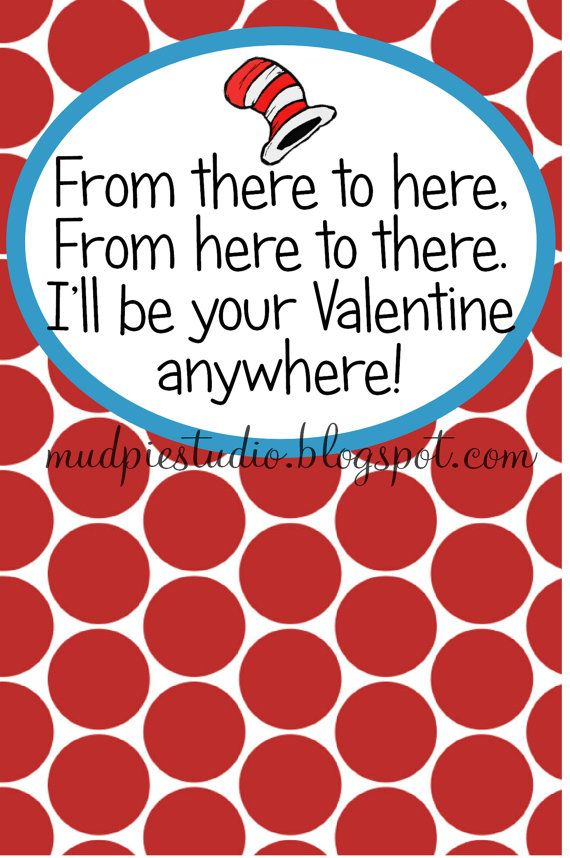 Valentines Day Dr Seuss Suess Tag Topper Label By Themudpiestudio
