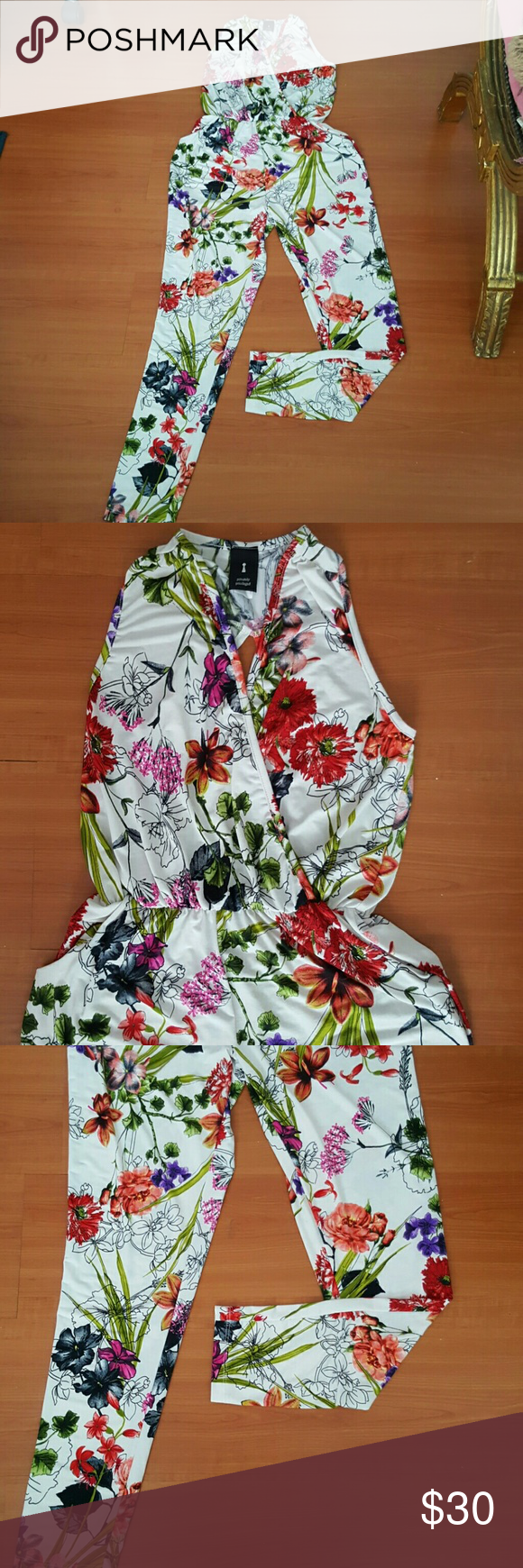 f43d4d956eaa Skinny fit ankles..beautiful floral pattern..super light weight great for  summer Privately privileged Pants Jumpsuits   Rompers