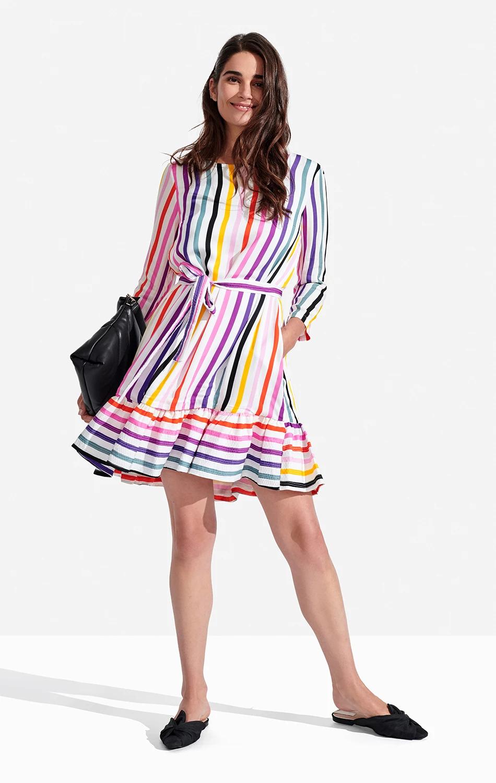 Poppy Dress Rainbow Stripe Persifor in 2020 Poppy