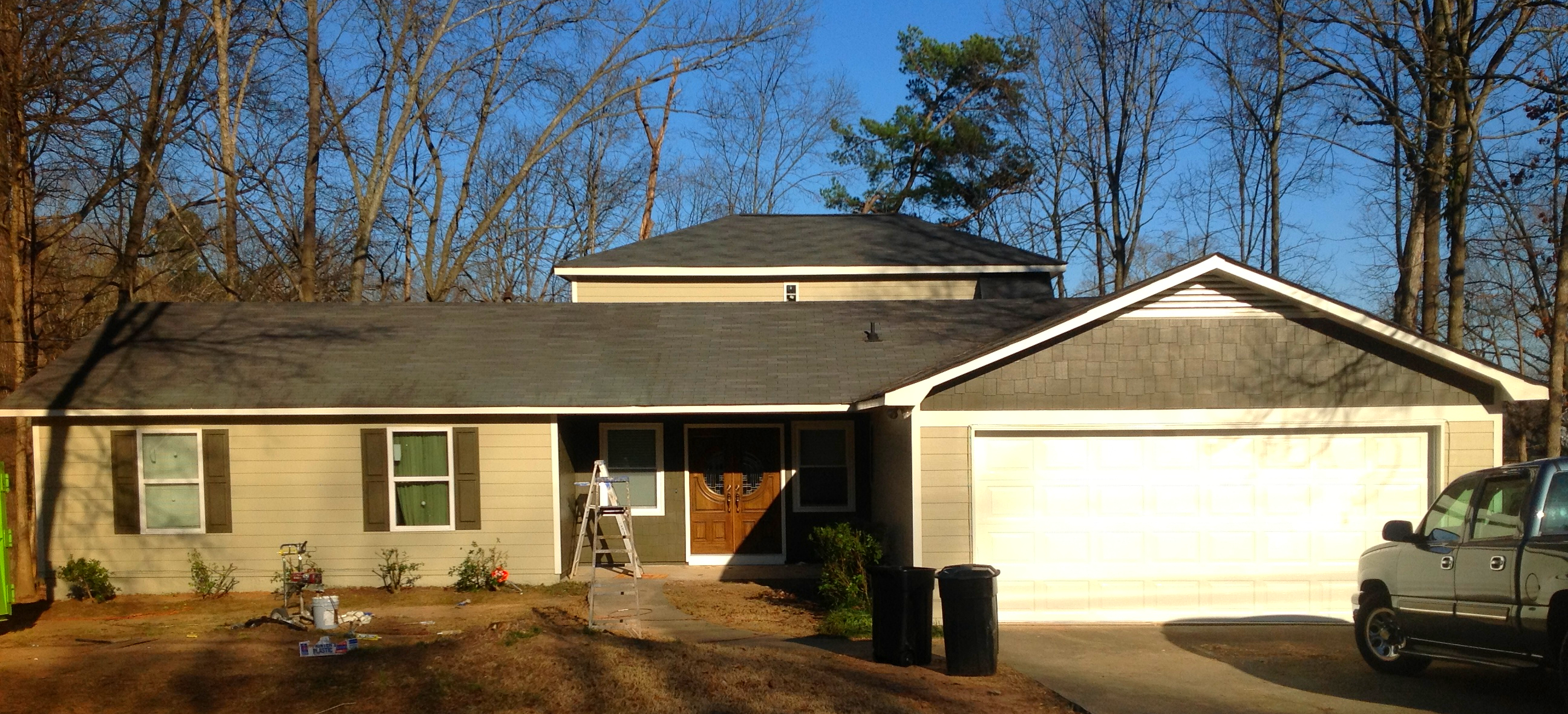 Mrs Morgan Home Makeover at Lithonia, GA Full Siding Replacement and New Deck