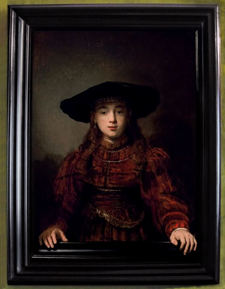Rembrandt The Girl In A Picture Frame Or The Jewish Bride 1641 Rembrandt Paintings Rembrandt Van Rijn Portrait Painting