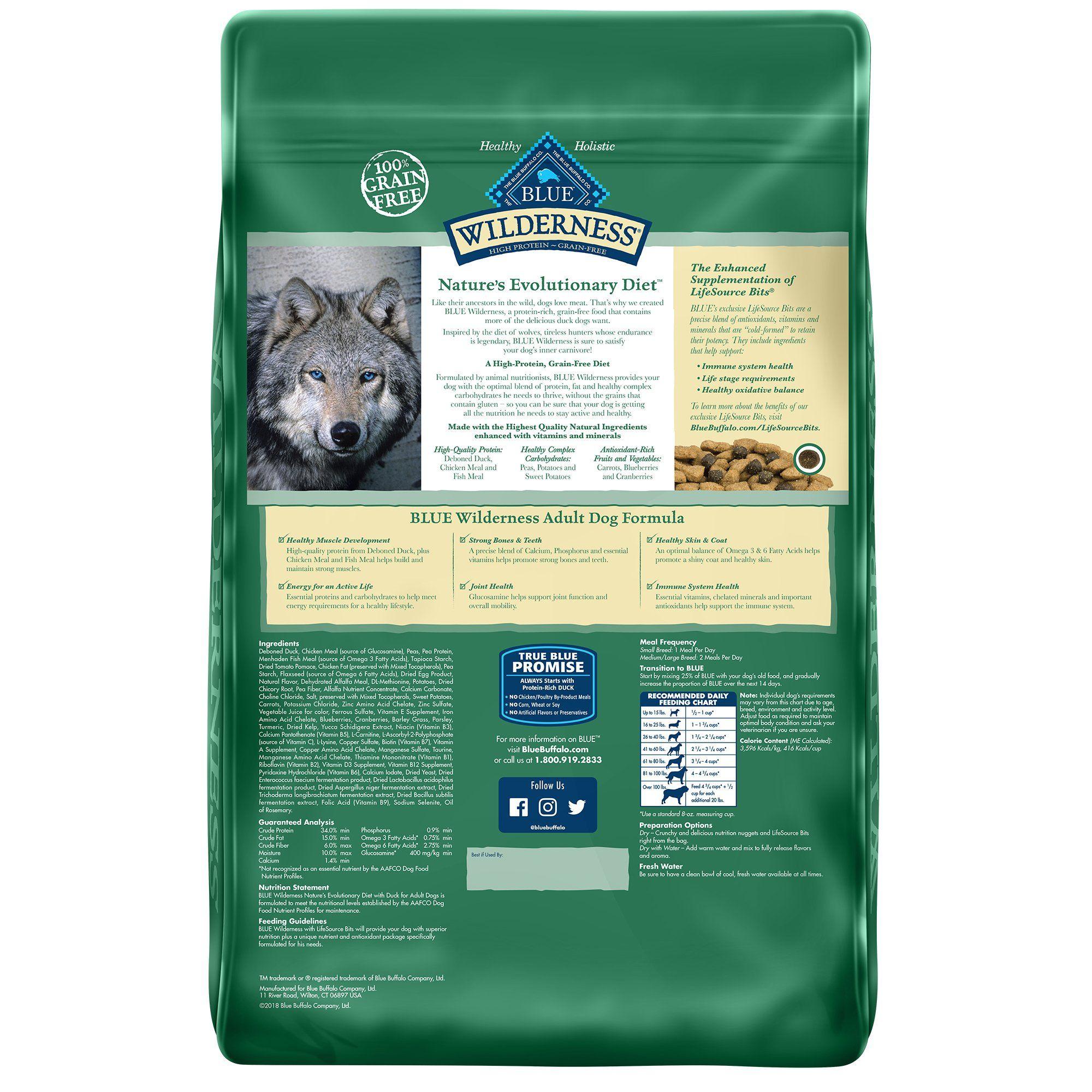 Blue Buffalo Blue Wilderness Adult Duck Recipe Dry Dog Food 11