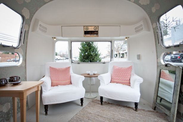 Remodeled Airstream Interiors   inside a remodeled Airstream! Cozy!