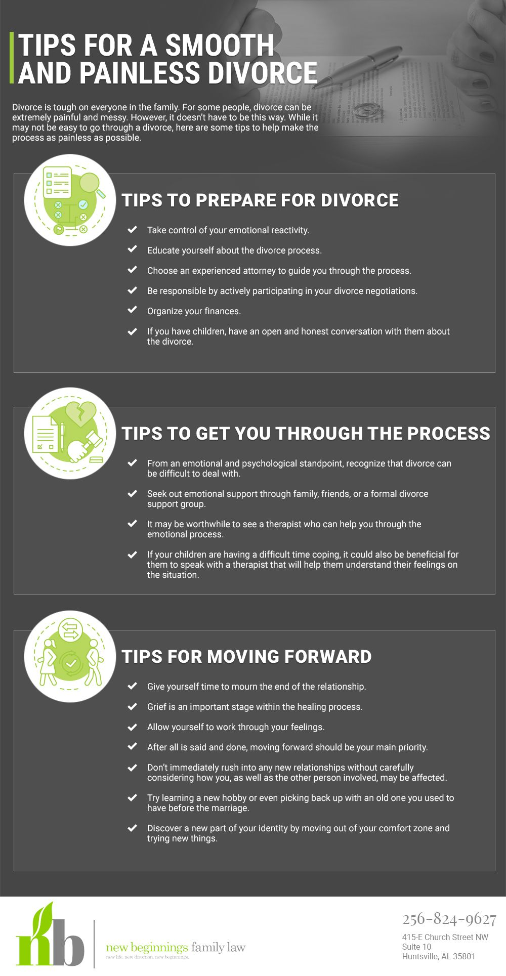 Pin by Newbeginningsfamilylawal on Divorce Infographic in