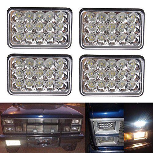 Rectangular 4x6 Inch Led Headlight Bulb For Peterbilt Kenworth Freightliner Headlamp Projector Lens Replace Hid X Hid Headlights Headlight Bulbs Led Headlights