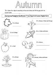 autumn worksheets szukaj w google - Fall Worksheets For First Grade