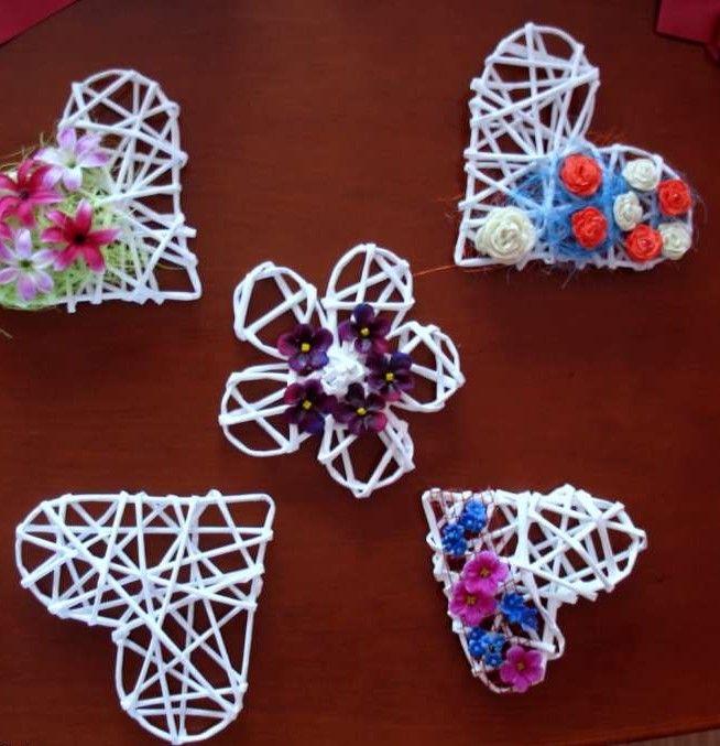 Serce Z Wikliny Papierowej Crochet Earrings Crochet Knitting