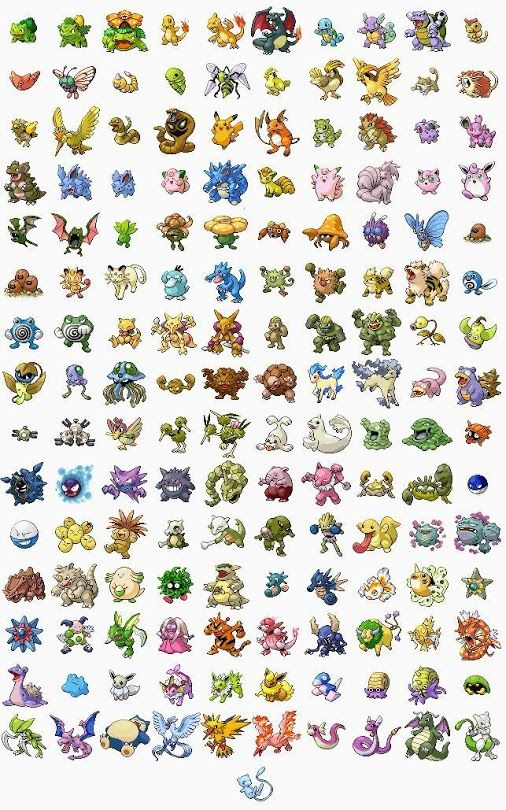 Pokemon  Donny Phillips General Discussion - 6:30 PM #Pokemon  Whose your Favorite out of these 151 Pokemon