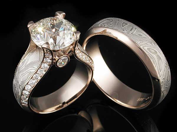 mokumeimages Mokume Mokume Gane Engagement Rings and Wedding