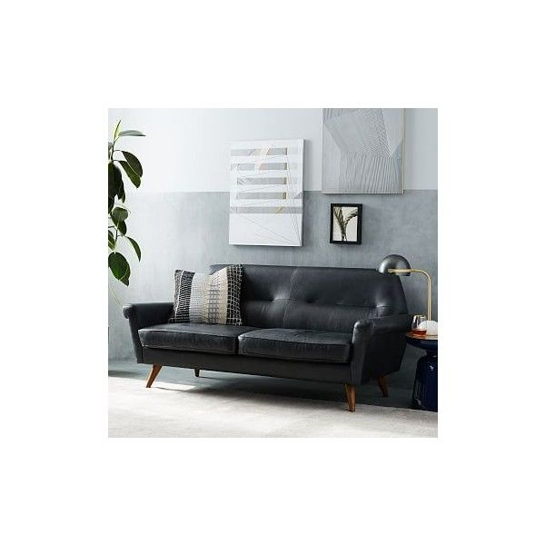 Sensational West Elm Denmark Faceted Loveseat Leather French Navy Unemploymentrelief Wooden Chair Designs For Living Room Unemploymentrelieforg