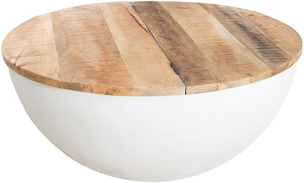 Riess Ambiente Couchtisch Industrial Storage Aus Massivholz Bohlen Weiss Massivholz Mit Klappbarer Tischplatte Couchtisch Industrial Couchtisch Wohnzimmertisch
