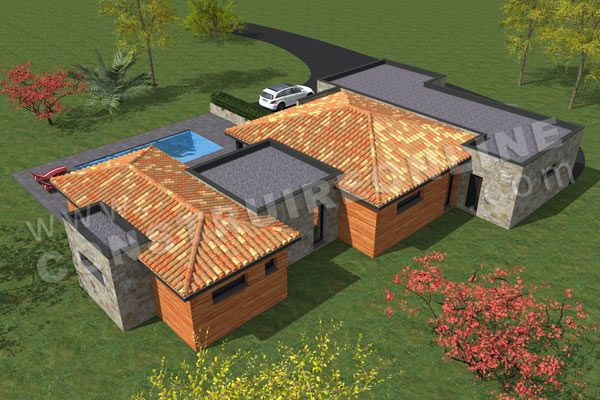 plan maison architecte arriere MUST plan Pinterest Modern