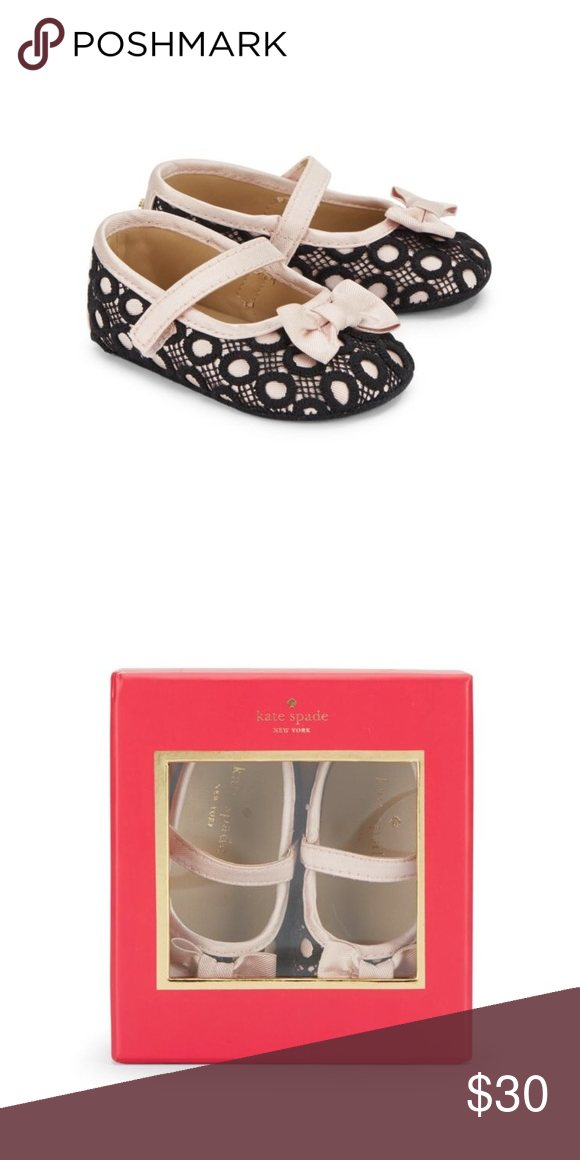 a35e19eaf36d NIB Kate Spade Baby Lace Mary Jane Shoes Adorable lace design --- round toe