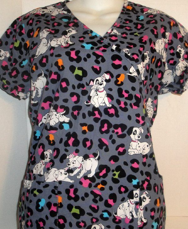 0d390c27840 Nursing Scrubs, Dalmatian Dogs, 101 Dalmatians, Scrub Tops, Print Patterns,  Floral