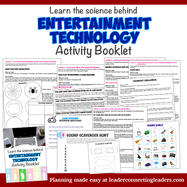 Entertainment Technology Activity Booklet Leader Connecting Leaders How To Start Conversations Booklet Girl Scout Juniors