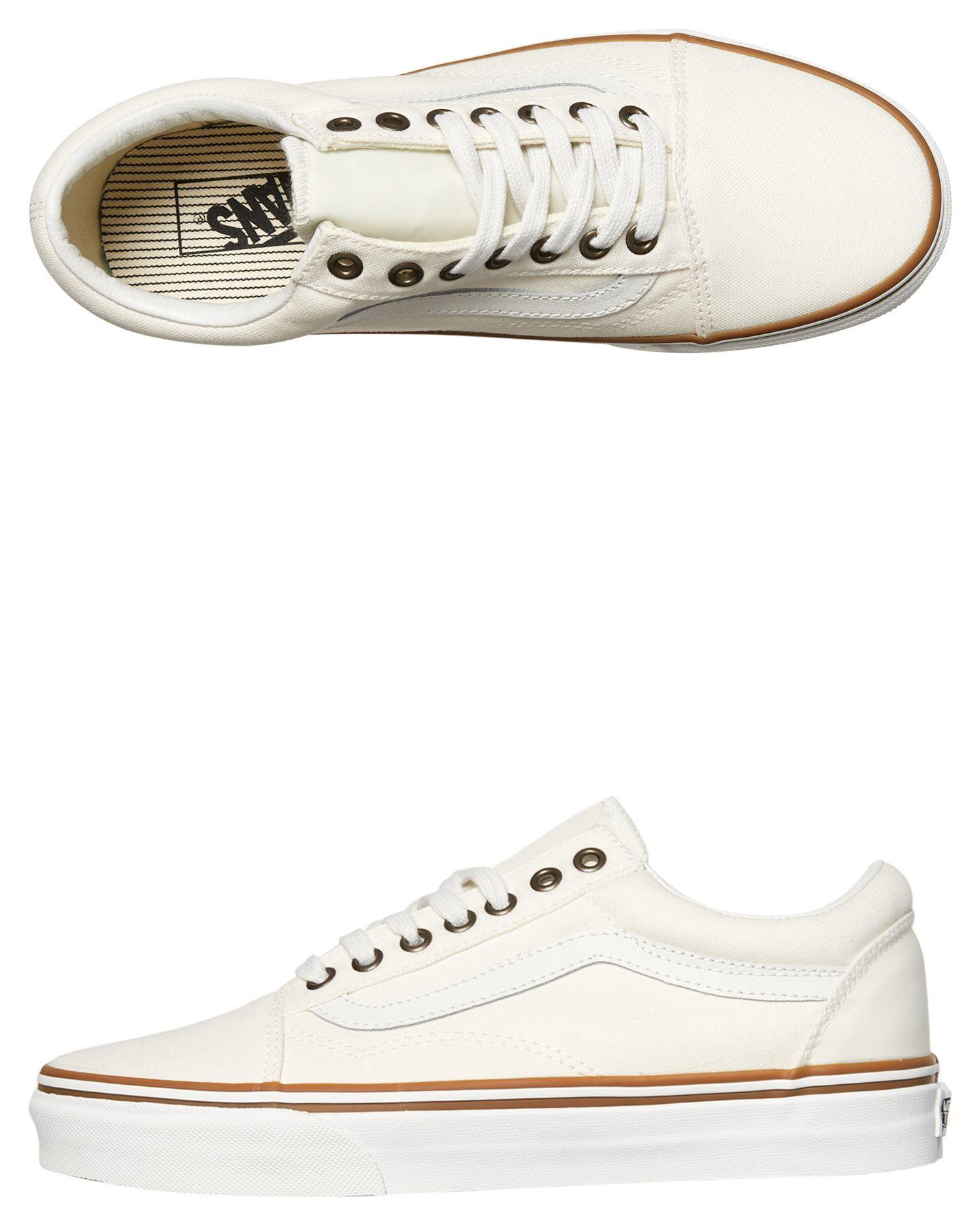 Vans Womens Sun Faded Old Skool Shoe White | SurfStitch