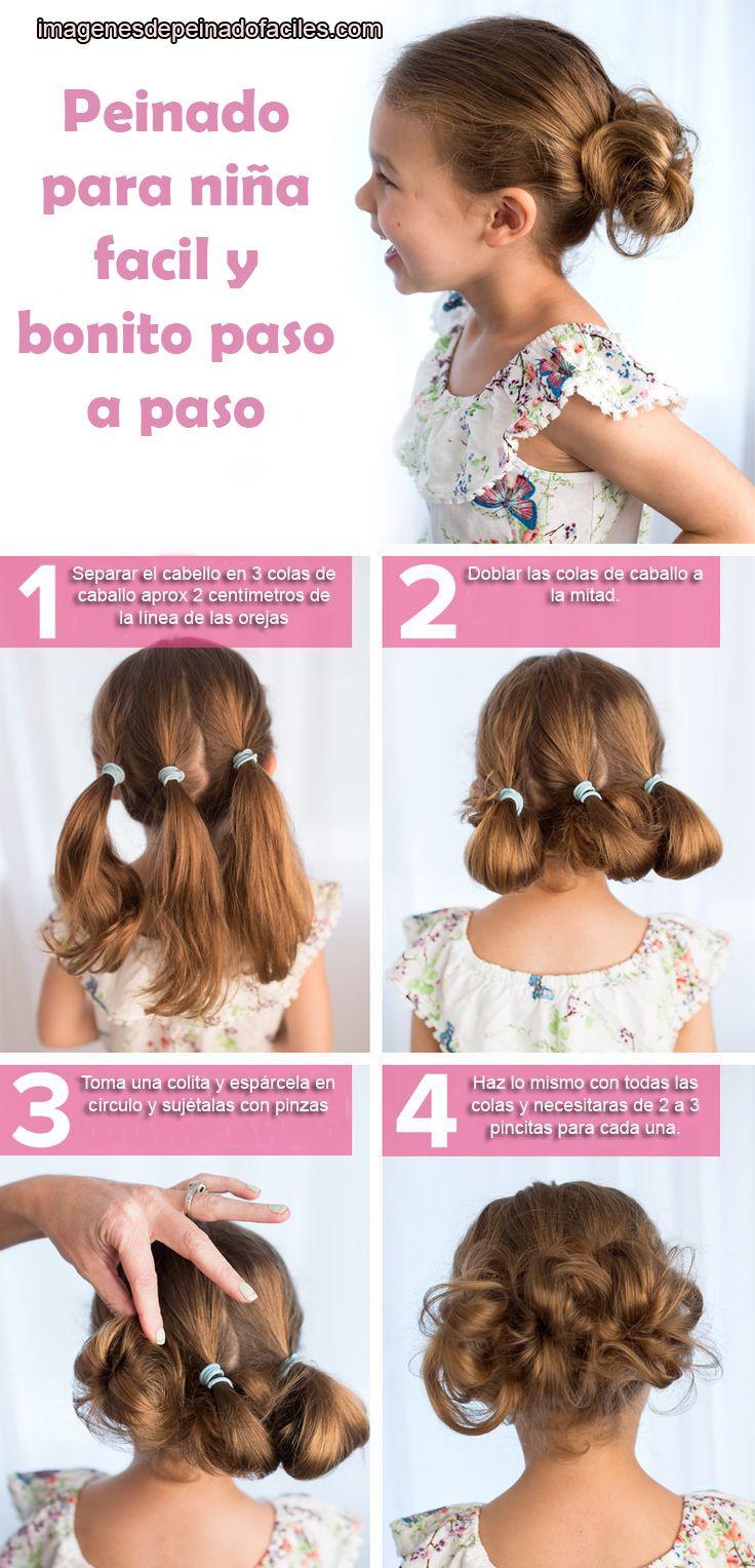 Peinados para niñas fáciles y bonitos paso a paso peinados