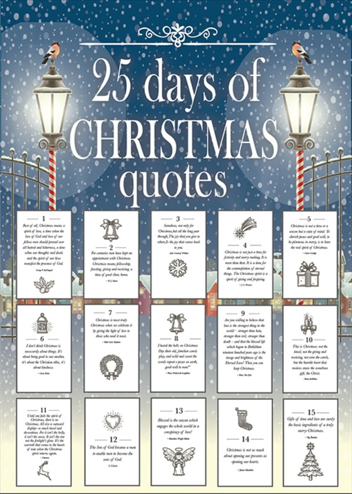 25 Days of Christmas Quotes (With images) Christmas