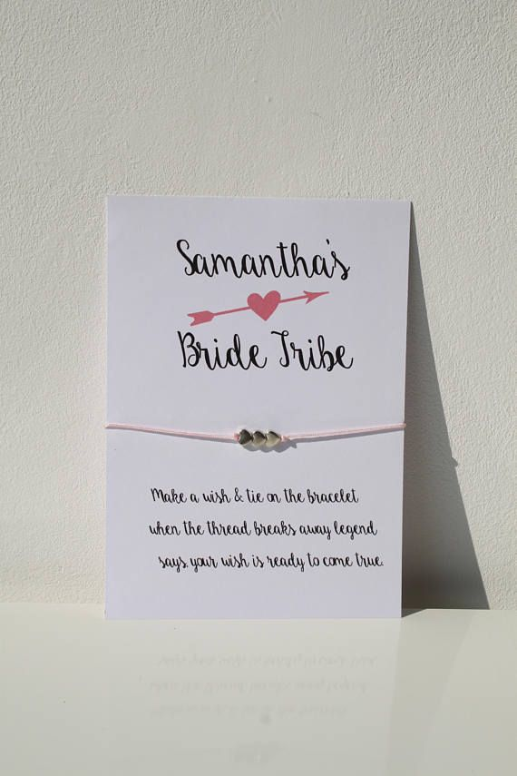 Personalised Hen Party bracelet gift//favour