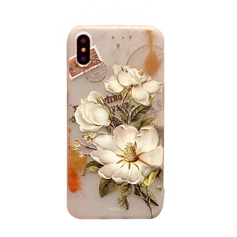 Iphone X Case For Girls Iphone 10 Case Anstop Cute Floral Print Pattern Ultra Thin Soft Tpu Slim Protectiv Floral Prints Pattern Floral Pattern Floral Prints