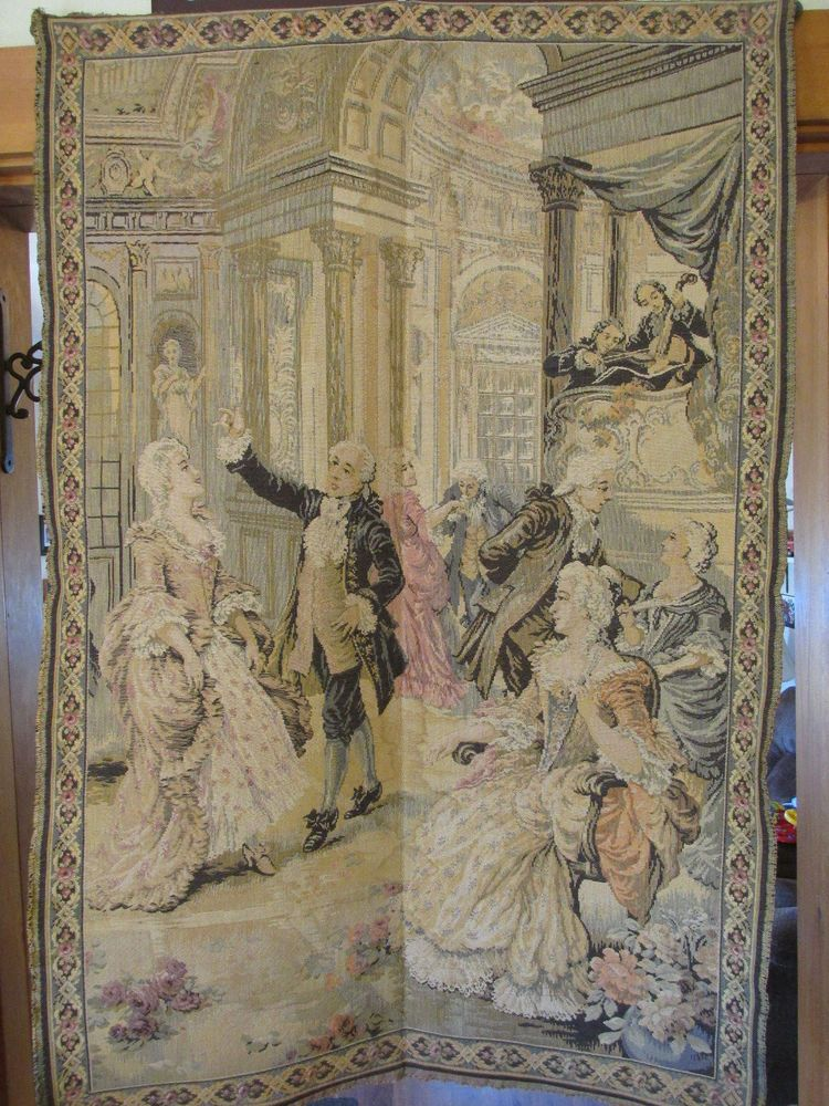 Large Vintage Victorian Tapestry Wall Hanging 38 X 57 Victorian Tapestries Tapestry Tapestry Wall Hanging