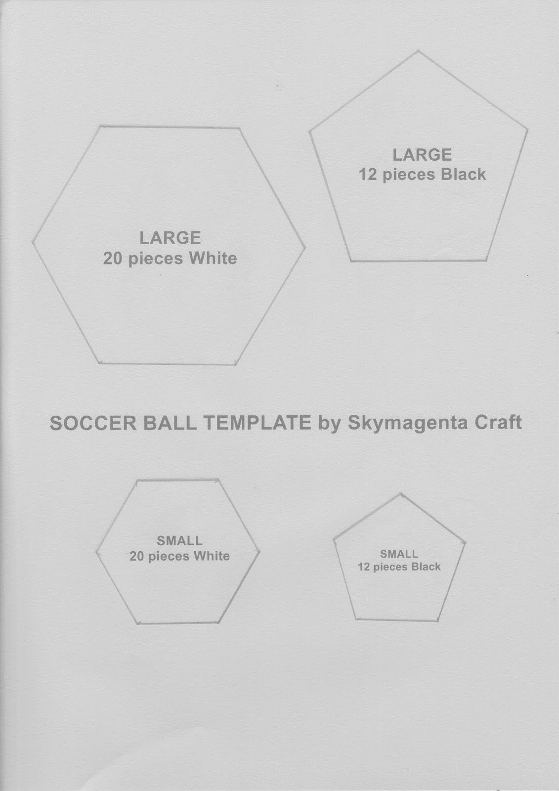 Felt Craft Tutorial - Soccer Ball Template (Crochet & Craft - The ...