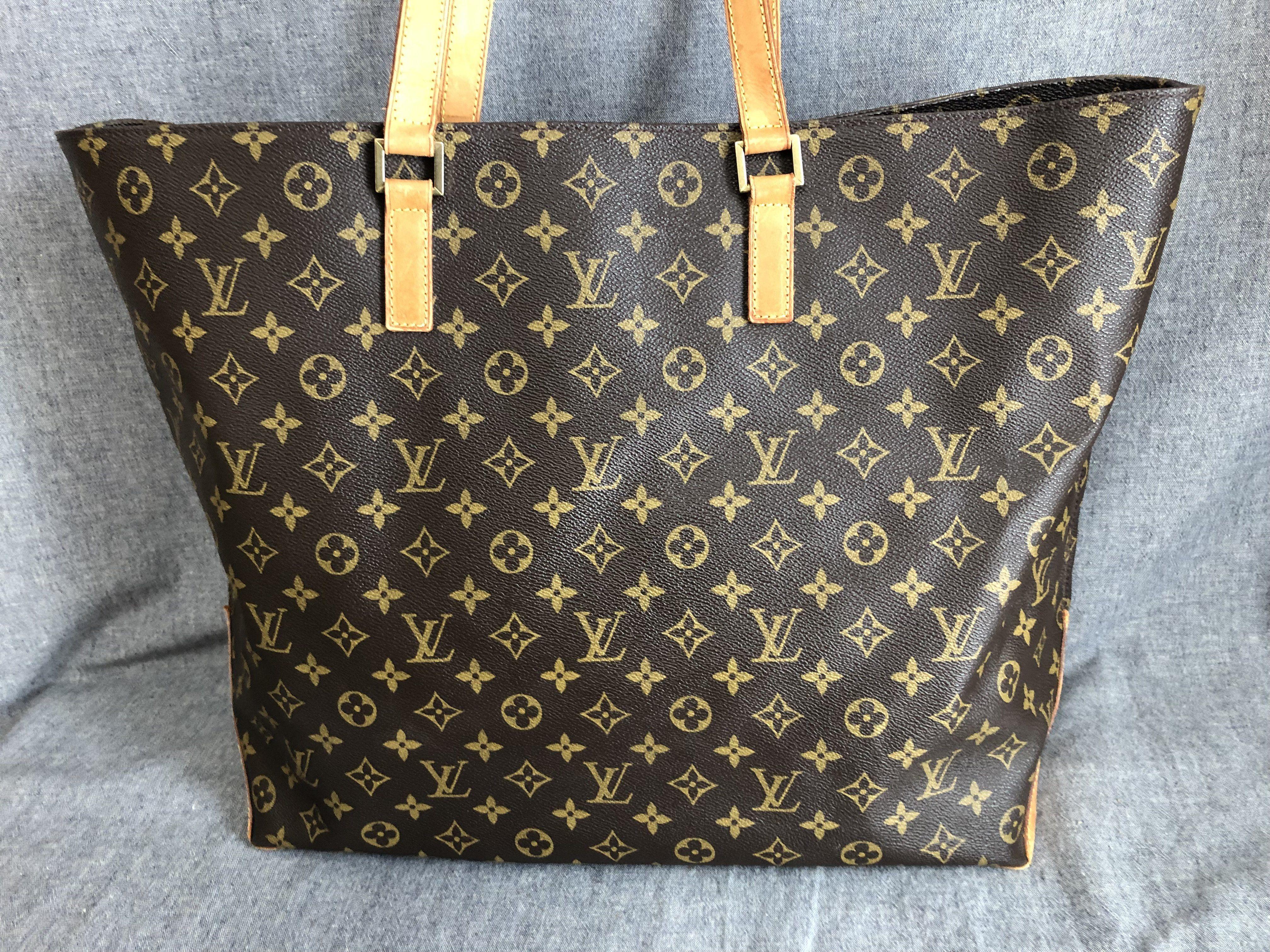 af488bcab875 Authentic Louis Vuitton Tote Bag Cabas Alto M51152 Browns Monogram ...