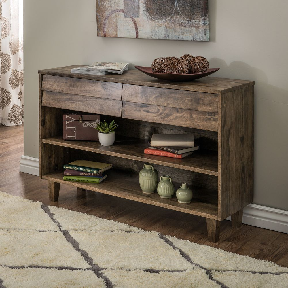 Small Coffee Tables Home Bargains: Venetian 2-drawer Console Table
