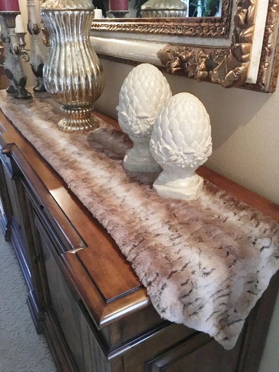 Faux Fur Table Runner Holiday