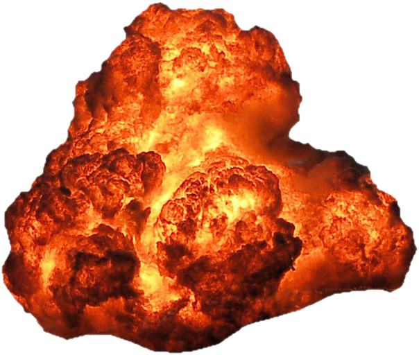 Big Explosion With Fire And Smoke Png Image Explosion Png Fire Image