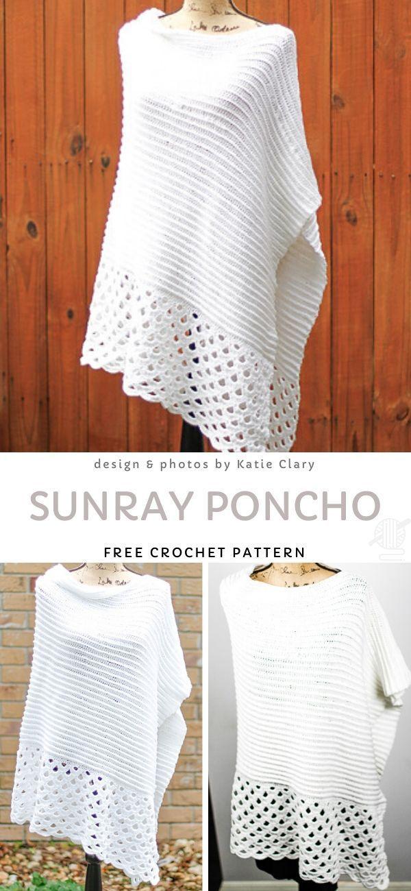 Photo of Sunray Poncho Free Crochet Pattern