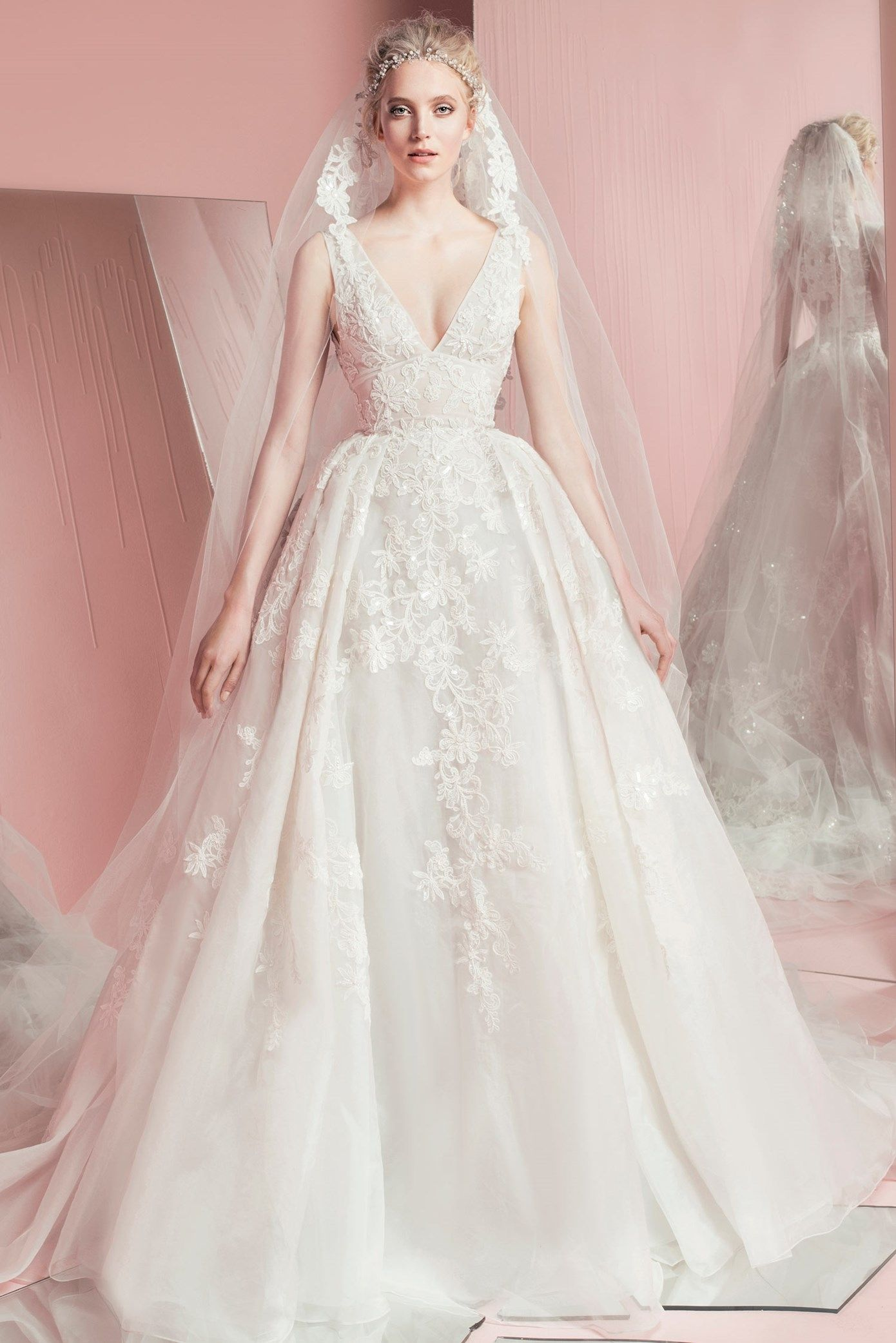 Vestido de noiva de zuhair murad zm perina coleção zm spring