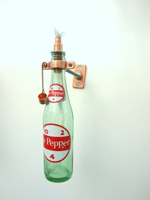 We Can Make Tiki Torches Out Of Any Bottle They Be Made To Mount A Wall Or Sit On Table