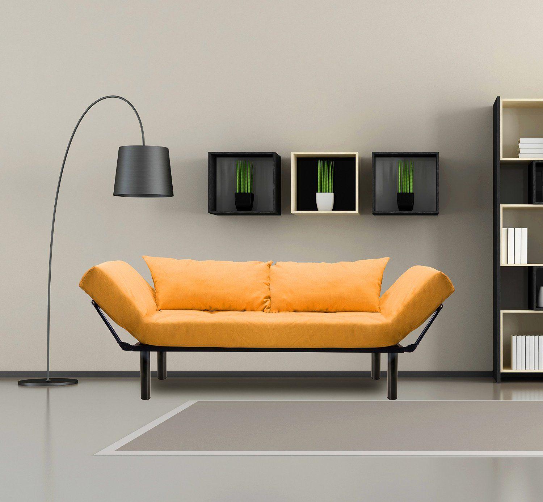 Merax® Colorful Line Fabric Futon/sofa Sleeper