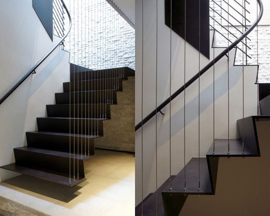 Staircase Vertical Wire Rail Design, Pictures, Remodel, Decor And Ideas    Page 2