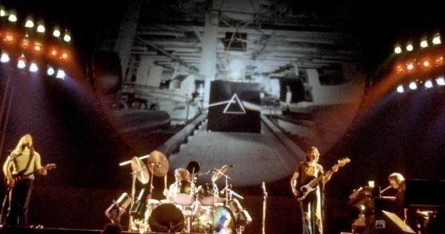 Concert screen projections from Pink Floyd's 1974 and 1975 tours