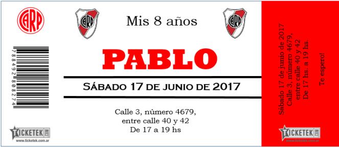 Invitación Fútbol Estilo Entrada Invitaciones De Cumple