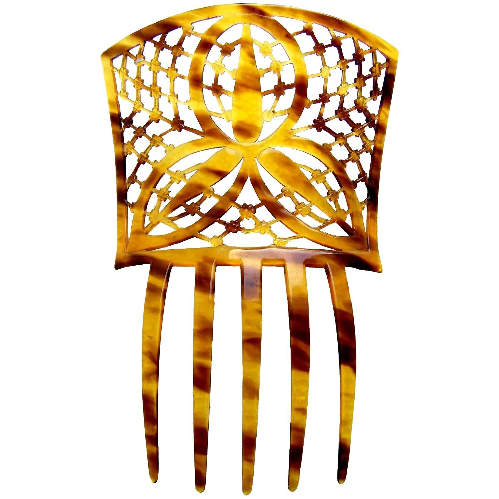 A Handsome Spanish Style Hair Comb In Celluloid Faux Tortoiseshell Condition Good Vintage Condition With Expected Tortoise Shell Hair Hair Comb Art Deco Hair
