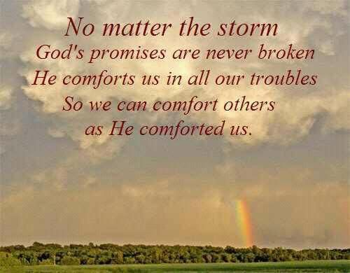 He Comforts Us In Our Troubles So We Can Comfort Others Gods