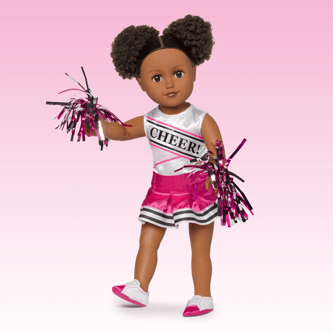 Pink Cheerleader Set Girl Spa Party Cheerleading Lol Dolls