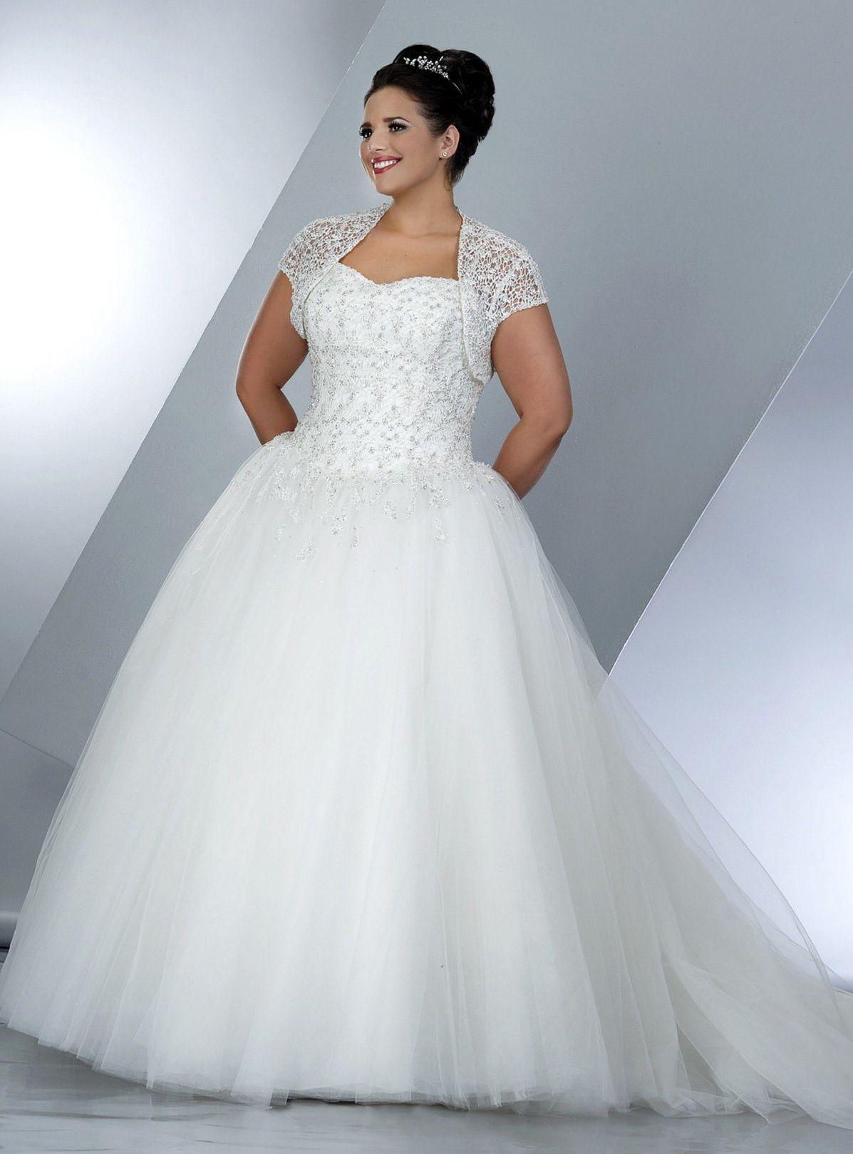 Cap sleeve plus size wedding gown weddings ballgowns