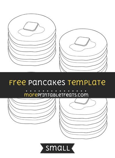 Free Pancakes Template - Small Shapes and Templates Printables