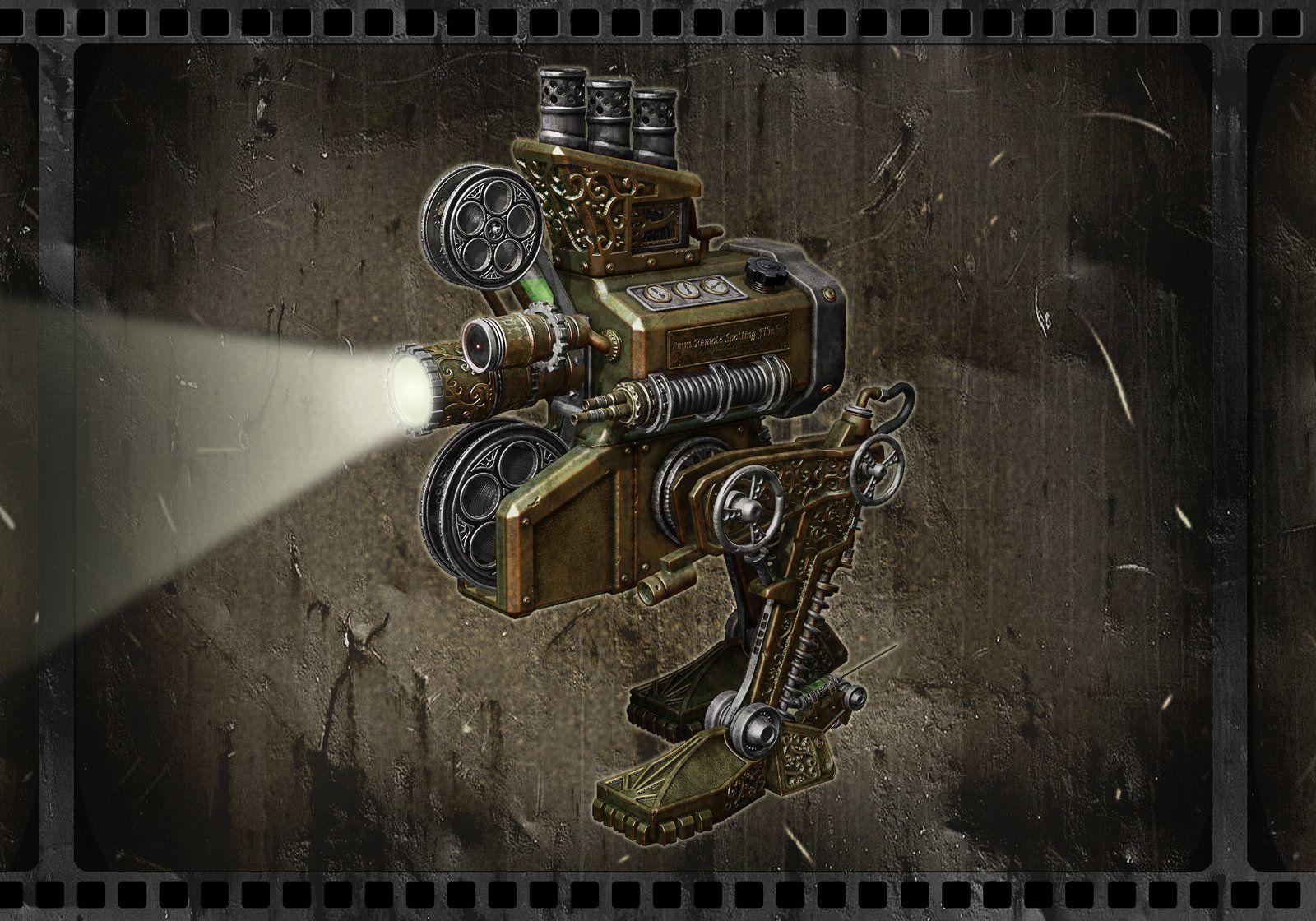 Filmbot, joseph pape on ArtStation at https://www.artstation.com/artwork/filmbot. #steampunk #victorian #gosstudio  . (Best Gifts online: http://www.zazzle.com/vintagestylestudio)